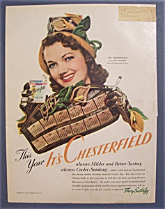 1942 Chesterfield Cigarettes With Lois January