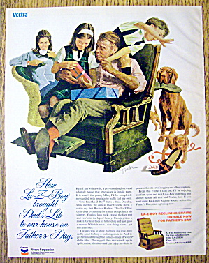 1973 La-Z-Boy Reclining Chair w/Family on Father's Day (Image1)