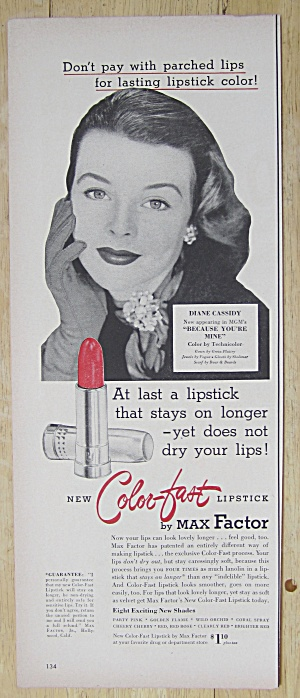 1952 Max Factor Color Fast Lipstick with Diane Cassidy (Image1)