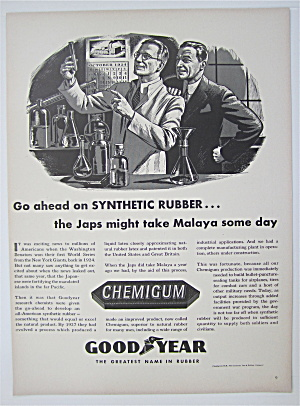 1943 Goodyear Chemigum Rubber with Two Men  (Image1)
