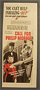 Vintage Ad: 1942 Philip Morris Cigarettes With Bellboy