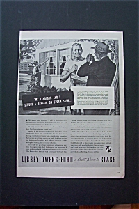 1943 Libbey Owens Ford Glass w/Man Talking to Neighbor (Image1)