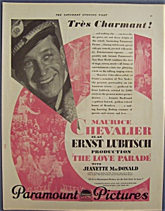 1929 Paramount Pictures With Maurice Chevalier