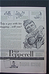 1943 Peppered Fabrics with Soldier Holding Items  (Image1)