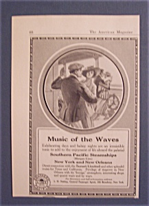 Vintage Ad: 1916 Southern Pacific Steamships (Image1)