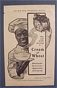 1907 Cream Of Wheat Cereal Ad With Black Chef