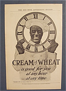 1907 Cream Of Wheat Cereal Ad with Black Chef (Image1)