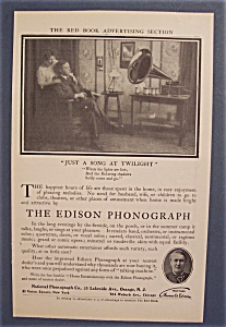 1906 Edison Phonograph with Man & Woman Listening (Image1)