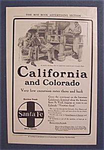 Vintage Ad: 1905 Santa Fe California & Colorado (Image1)