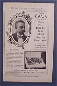 Vintage Ad: 1905 Balduff Gold Medal Chocolate Bon Bons (Image1)