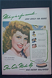 Vintage Ad: 1943 Max Factor With Rita Hayworth