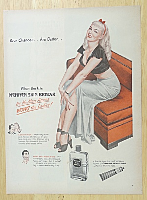1947 Mennen Skin Bracer with Lovely Woman on Couch (Image1)