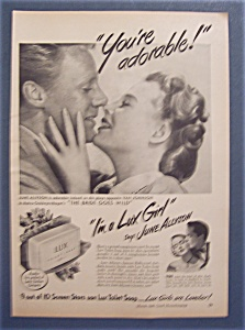 1948 Lux Toilet Soap W/ June Allyson & Van Johnson