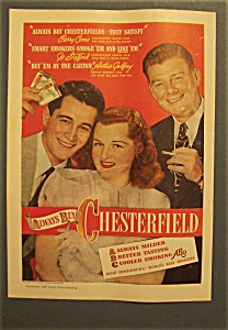 1947 Chesterfield Cigarettes W/como, Stafford & Godfrey