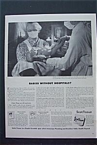 1943 Scottissue Toilet Tissue with Doctor & Nurse  (Image1)