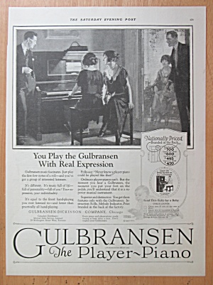 1923 Gulbransen Player Piano with Family Around Piano (Image1)