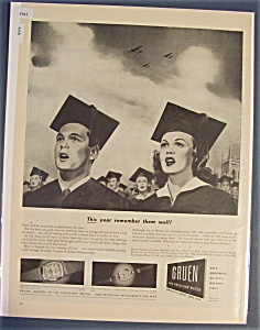 1943 Gruen Watches With Boy & Girl Graduating