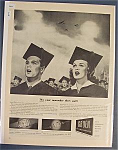 1943 Gruen Watches with Boy & Girl Graduating  (Image1)