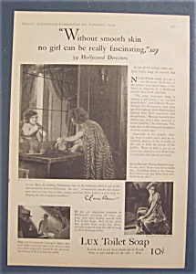 1929 Lux Toilet Soap With Clara Bow
