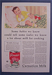 1932 Carnation Milk With Baby By Helen Blackburn Carter