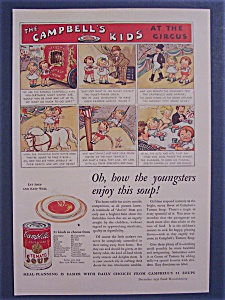 1932 Campbell's Tomato Soup W/ The Campbell Kids