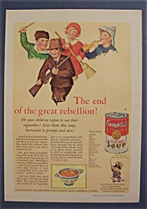 1931 Campbell Vegetable Soup W/children Smiling