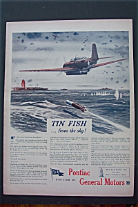 1943 Pontiac with Plane Flying Over The Water  (Image1)