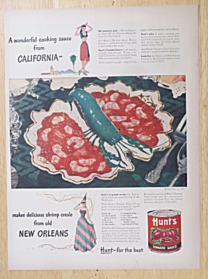 1947 Hunt's Tomato Sauce with Shrimp Creole  (Image1)