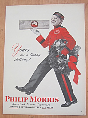 1946 Philip Morris Cigarette w/Bell Boy Carrying Wreath (Image1)