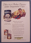 Click here to enlarge image and see more about item 10018: Vintage Ad: 1923  Dairylea Evaporated Milk