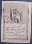 Click here to enlarge image and see more about item 10037: Vintage Ad: 1923  Baker's  Cocoa