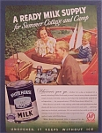 1938  White House Evaporated Milk w/Man & Box of Milk