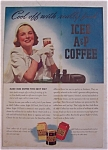 Click here to enlarge image and see more about item 10041: Vintage Ad: 1938  Iced  A & P  Coffee