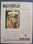 Vintage Ad: 1930 Technicolor with Paul Whiteman