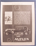 Click here to enlarge image and see more about item 10061: Vintage Ad: 1930  Auburn