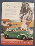 Click here to enlarge image and see more about item 10090: Vintage Ad: 1937  Oldsmobile Eight