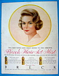 Click to view larger image of Vintage Ad: 1959 Breck Hair Set Mist (Image1)