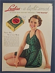 1936 Lucky Strike Cigarettes with a Lovely Woman