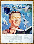 Click to view larger image of 1957 Vought Aircraft By Mawicke with Boy Reading  (Image1)