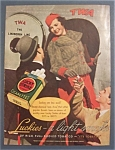 1936 Lucky Strike Cigarettes with Man Getting on Plane