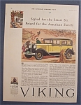 Vintage Ad: 1929  Viking  Eight