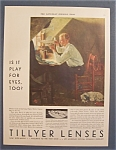 Click here to enlarge image and see more about item 10136: Vintage Ad: 1929 Tillyer Lenses By Norman Rockwell