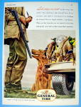 1945 General Tires with Man Hunting With His Dog