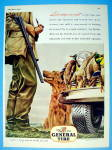 Click to view larger image of 1945 General Tires with Man Hunting With His Dog (Image2)