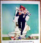 Click to view larger image of Vintage Ad: 1965 Smirnoff Vodka with Buddy Hackett (Image2)