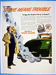 "Vintage Ad: 1943 Texaco ""Smoke Means Trouble"""