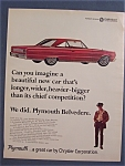 Click here to enlarge image and see more about item 10182: Vintage Ad: 1966 Plymouth Belvedere