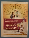 Click here to enlarge image and see more about item 10245: 1940  Gilbey's Gin