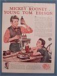 Vintage Ad: 1940 Movie Ad for Young Tom Edison