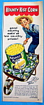 Click here to enlarge image and see more about item 10257: Vintage Ad: 1954 Kounty Kist Corn